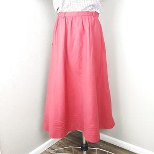 Vintage midi pin tucked skirt